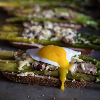 Asparagus and Mushroom Toast.
