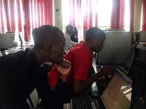 Photo: Developers hacking code