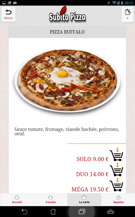 Subito Pizza Valenton- screenshot