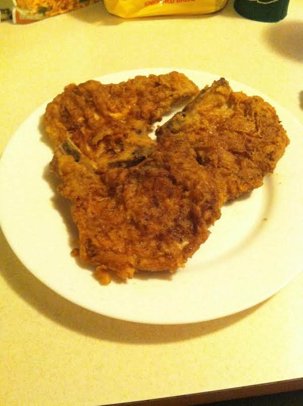 Fried Mustard Pork Chops