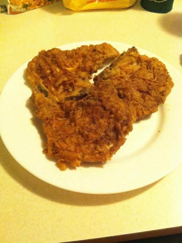 Fried Mustard Pork Chops
