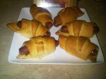 Hot Link Crescent Roll Appetizers Recipe