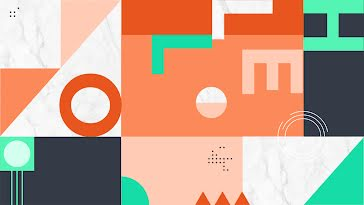 Geometric Hello - Zoom Background template