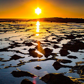 Flare by Adriano Freire - Landscapes Sunsets & Sunrises ( milfontes, sunset, portugal, praia, mar )