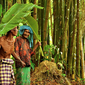 Untitled Bliss by Anis Ghazalli - People Couples ( banana, bamboo, happy, old man, old woman )
