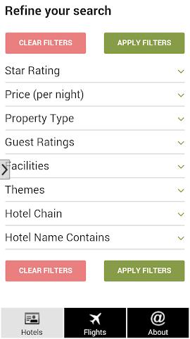 android Barcelona Hotels and Flights Screenshot 1