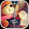 Teddy Bear Zipper Lock Screen icon