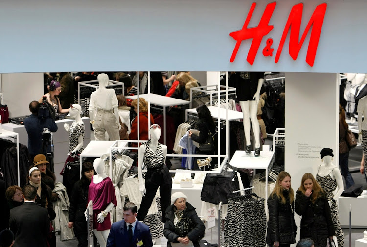 People shop at an H&M store in Moscow, Russia. Picture: REUTERS