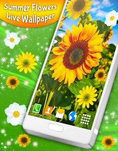 3d Parallax Background Live Wallpaper For Android Os Summer Flowers Live Wallpaper Android Apps On Google Play