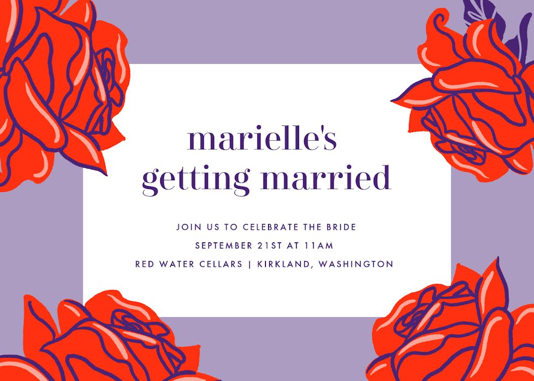 Marielle's Bridal Shower - Bridal Shower Template