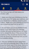 Screenshot of FBI Child ID