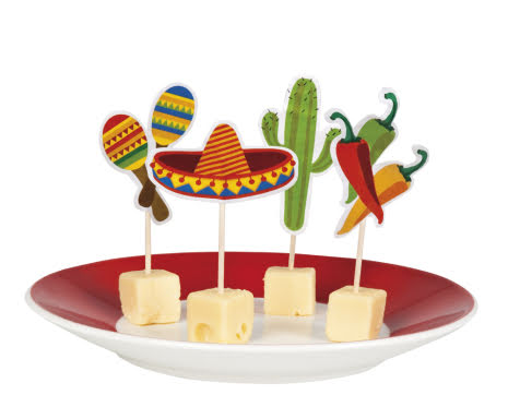 Cocktailpinnar, fiesta, mexico