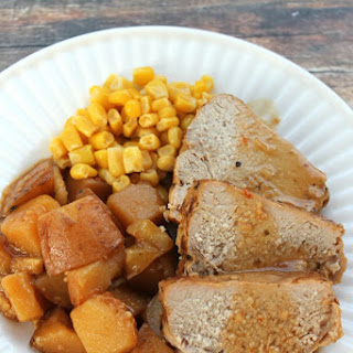 Balsamic & Red Pepper Crock Pot Pork Tenderloin with Potatoes