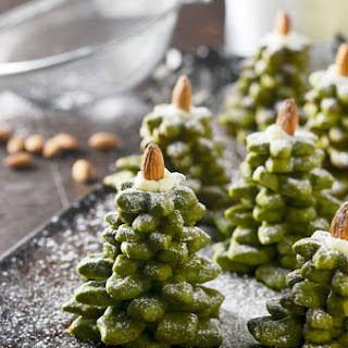 Matcha Cookie Christmas Tree Stacks.