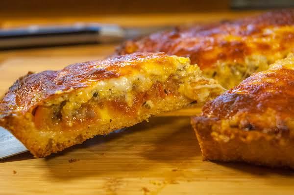 Cheese/tomato/sausage Tart Recipe