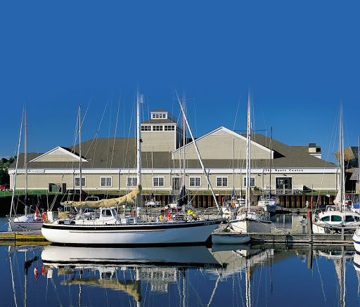 A look at the harbor and yacht dock slips at the Summerside Yacht Club in Summerside, Prince Edward Island, Canada