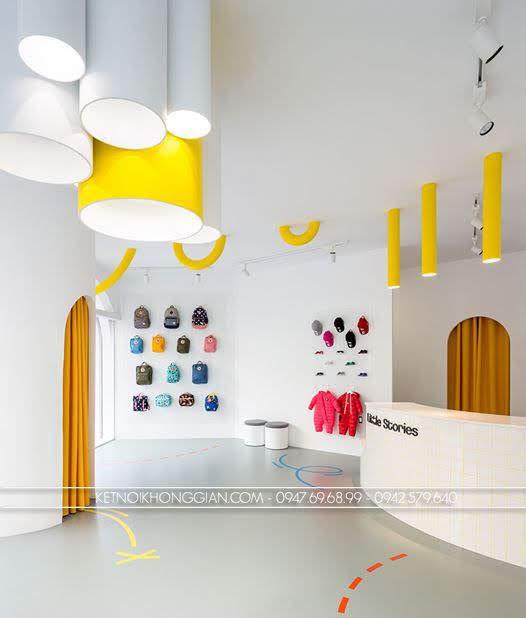 thiết kế shop giày dép trẻ Little Stories 1
