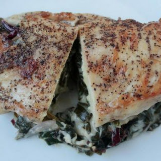 Pan Fried Spinach Stuffed Chicken.