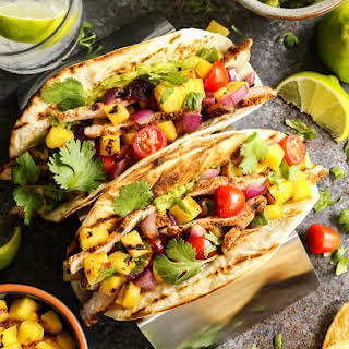Grilled Pork and Pineapple Tacos.