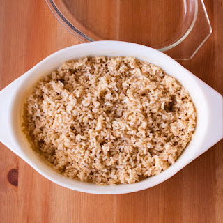 Perfect Baked Brown Rice.