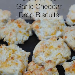 Gluten free Garlic Cheddar Drop Biscuits