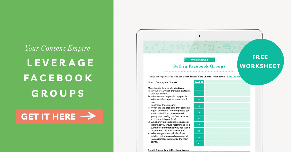 Freebie | Leverage Facebook Groups
