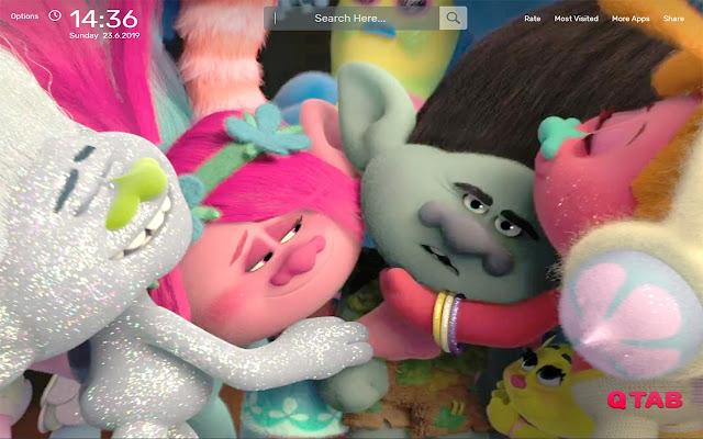 Trolls Wallpapers HD Theme