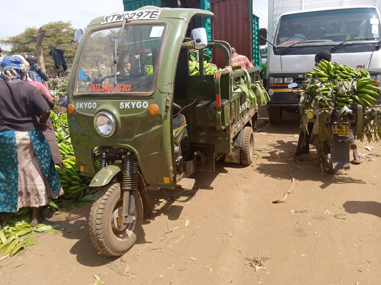 Tuk tuk and motor bikes are among the new mode of transport being adopted by farmers