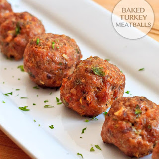 Baked Turkey Meatballs.