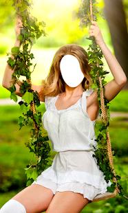 žena krátké šaty foto editor - náhled