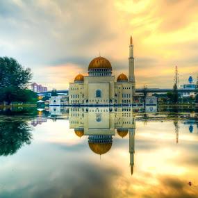 Sunrise Masjid As Salam by Adi Adlee - City,  Street & Park  Vistas