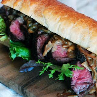 Steak with Caramelized Onion-Jalapeño Sauce.