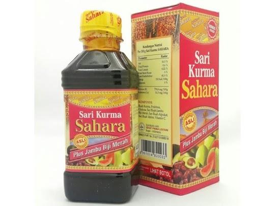 sari kurma sahara plus jambu biji merah herbal anemia meningkatkan hb mengatasi kurang darah dbd
