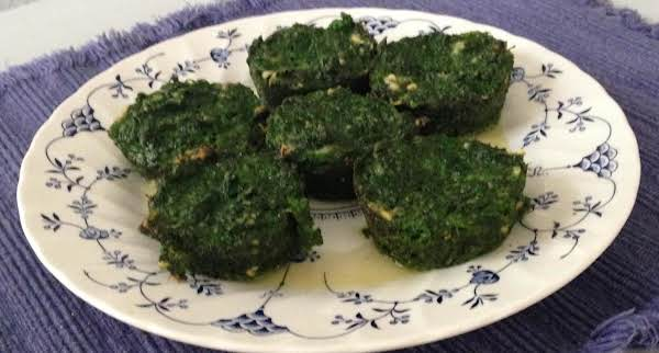 Parmesan Spinach Cakes Recipe