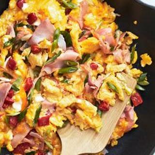 Pimiento Cheese and Ham Scramble Recipe