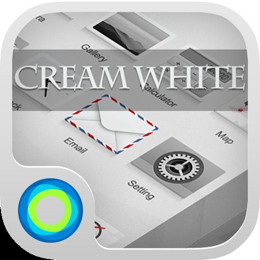 个人化のクリームホワイト Hola Launcher テーマ LOGO-記事Game