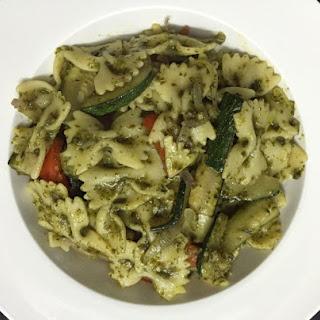 Basil Pesto Farfalle Vegetables Pasta