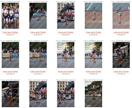 Photo: Vignettes photos de course de Marie-Jo. Les photographes l'ont manifestement appréciée !