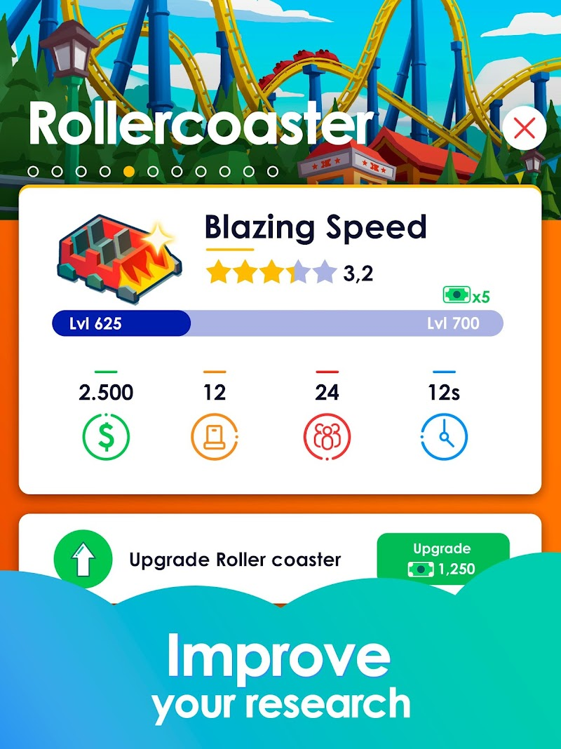 Idle Theme Park Tycoon - Recreation Game Screenshot 12
