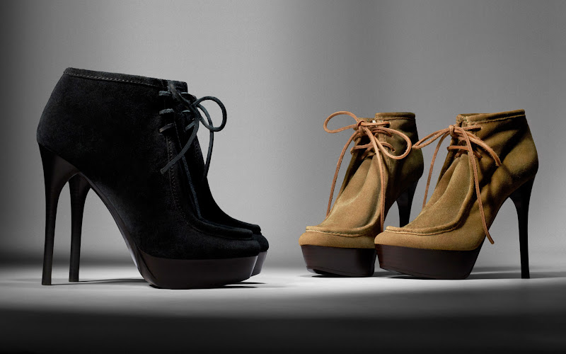 Photo: Shearling Lined Platform Ankle Boots