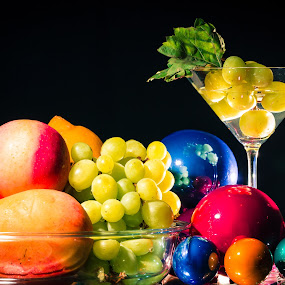 New Year's Fruits by Ellen Foulds - Food & Drink Fruits & Vegetables ( 550d, grapes, food, apple, fruits )