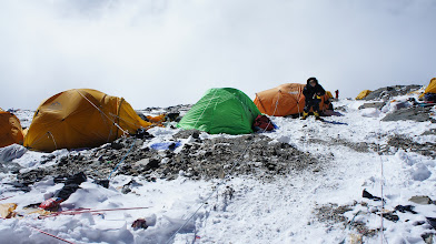 Photo: High Camp 3 - in der Mitte mein grünes Zelt (gekauft in Kathmandu)