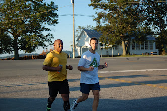 Photo: Ray and Steve starting on the second half of the run.