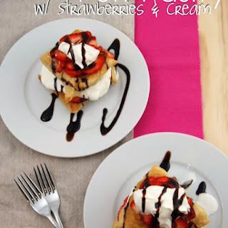 Puff Pastry w/ Strawberries & Cream.