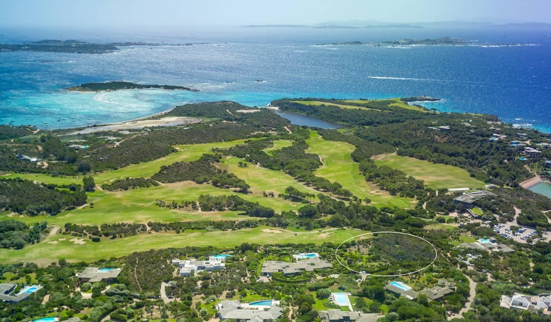 Terrain avec vue panoramique en bord de mer Bonifacio