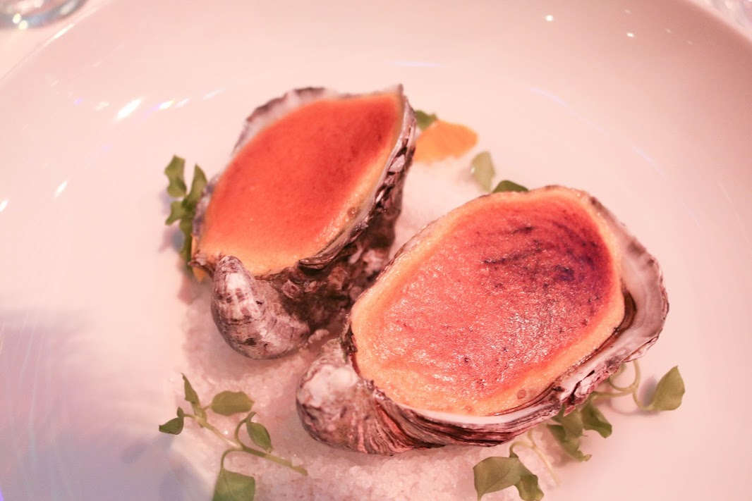 Oysters in Champagne sabayon
