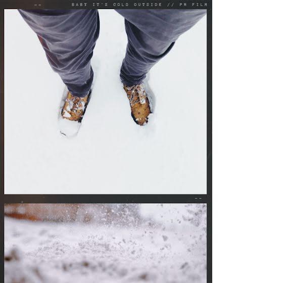 Heavy Snowfall - Instagram Post Template