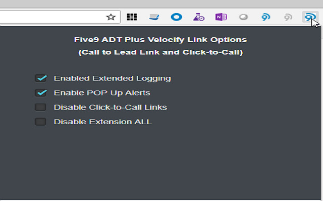 Five9 ADT PLUS Velocify Link