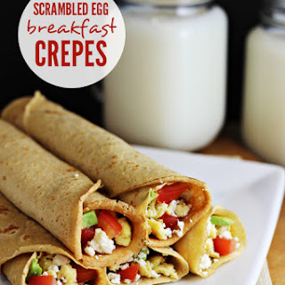 Scrambled Egg Breakfast Crepes.