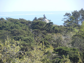 Photo: The hills and the Atlantic Ocean from the Pena Palace